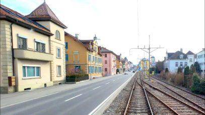 4K Lenzburg – Seetal – Luzern cab ride, Switzerland [02.2020]