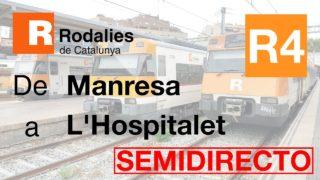 Cab Ride ES Manresa – L'Hospitalet de Llobregat (Línea R4 Rodalies de Catalunya)