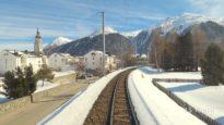 4K Chur – Albulabahn – St. Moritz cab ride, Switzerland [02.2020]