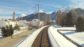 4K Chur – Albulabahn – St. Moritz cab ride, Switzerland [02.2020]