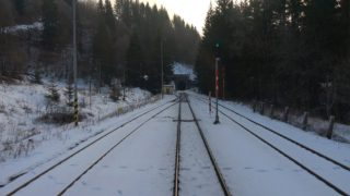"Cabview 4K 754 055-2 ""Renátka"" R 945 ""Fatra"" Žilina – Banská Bystrica + sound – 27.01.2020"