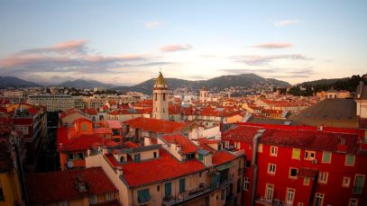 Rooftops of Vieux Vieux in Nice South of France Côte d'Azur in 4k