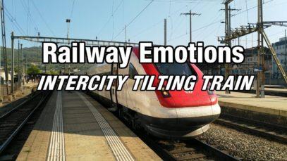 TILTING TRAIN CAB RIDE with high speeds and fast corners (Switzerland   IC5 Zürich – Biel/Bienne)