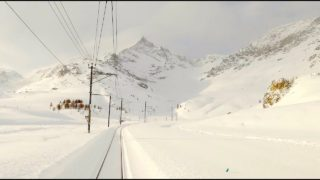 4K Cab ride St. Moritz – Tirano, fresh snow, strong winds & snowdrifts [03.2020]