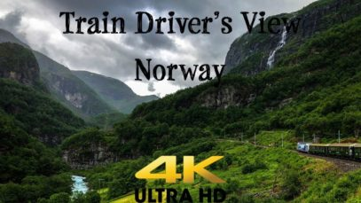 TRAIN DRIVER'S VIEW: Flåm to Myrdal with Sun and Rain In 4K UltraHD