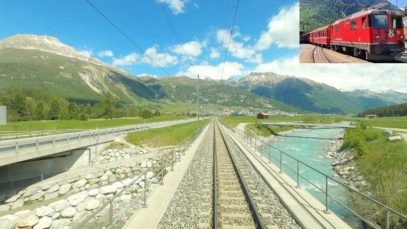 4K Pontresina – Scuol/Tarasp late spring cab ride, Switzerland [05.2020]