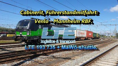 Cabinerit, Führerstandsmitfahrt: Venlo – Keulen – Koblenz – Mainz – Mannheim Rbf