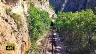 4K CABVIEW Dimitrovgrad – Niš (Sićevo Gorge rock cliffs and Nišava river valley — Southeast Serbia)