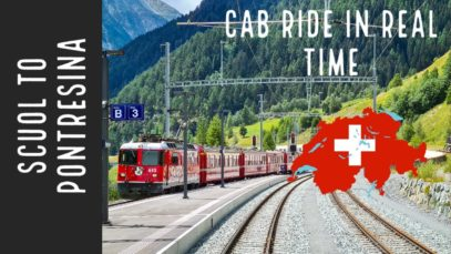 REAL TIME cab ride through the Engadin from Scuol to Pontresina, Switzerland.