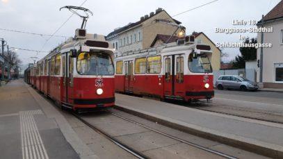 Wien Linie 18 Burggasse-Stadthalle – Schlachthausgasse (E2+c5)