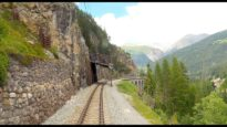 4K Cab Ride Samedan – Albulabahn – Chur; from sunny weather into a thunderstorm [07.2020]