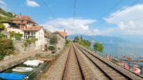 4K Cab ride along lake Geneva, Allaman – Villeneuve, Switzerland [08.2020]