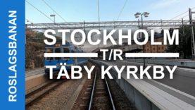 TRAIN DRIVER'S VIEW: Stockholms Östra-Täby Kyrkby round-trip (Narrow gauge)