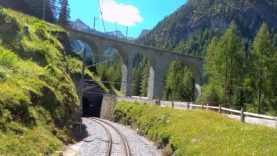 4K Chur – Albulabahn – St. Moritz summer cab ride, Switzerland [07.2020]
