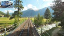 4K Samedan – Preda, Cargo train driver's view, Switzerland [10.2020]
