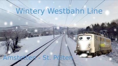 FIRST SNOW! Westbahn Amstetten – St. Pölten | BR 139 | Cab Ride – Führerstandsmitfahrt Güterzug