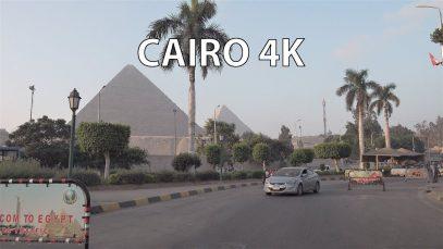 Cairo 4K – Pyramid Expressway Sunrise – Scenic Drive