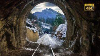 4K CABVIEW Požarevac – Zaječar — Winter in the mountainous region of East Serbia