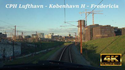 Führerstandsmitfahrt Dänemark 4K: CPH lufthavn – København H – Fredericia over Køge Nord med LYN81