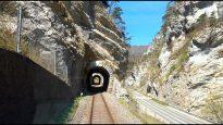 4K 🇨🇭Tilt train Biel – Moutier – Delémont cab ride through Switzerland's Jura mountains [04.2021]
