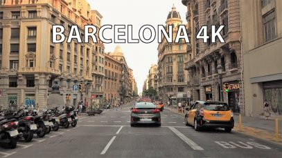 Barcelona 4K – Driving Downtown – Mediterranean Metropolis