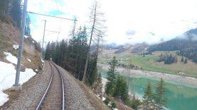 4K 🇨🇭Klosters Platz – Davos Platz cab ride, Switzerland [05.2021]