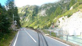 4K 🇨🇭Realp – Furka – Oberwald rack railway diesel cab ride, Switzerland [08.2021] 700 meter climb
