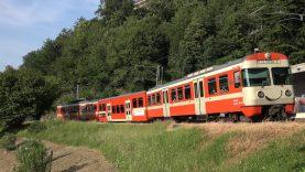 "Ferrovia Lugano-Ponte Tresa, Führerstandsmitfahrt Ponte Tresa Lugano auf der Be 4/12 ""Mandarinli"""